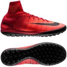 Nike MercurialX Proximo II DF TF Fire - Rood/Zwart Kinderen