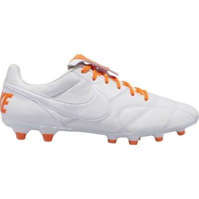 Nike PREMIER II FG Voetbalschoenen Wit Oranje