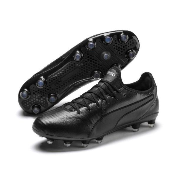 PUMA KING Pro FG Voetbalschoenen Zwart Wit