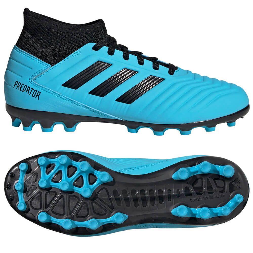 adidas PREDATOR 19.3 AG Kunstgras Voetbalschoenen Kids Blauw Zwart