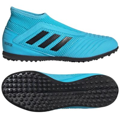 adidas PREDATOR 19.3 LL Turf Voetbalschoenen Kids Blauw Zwart Geel