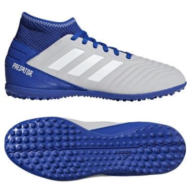 adidas PREDATOR 19.3 TF Voetbalschoenen Kids Grijs Wit Blauw