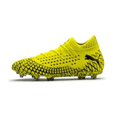 FUTURE 4.1 NETFIT FG/AG Football Boots, Zwart/Geel | PUMA