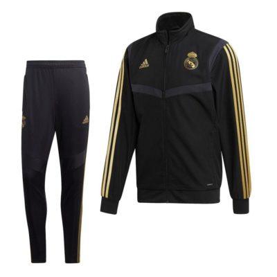 adidas Real Madrid Presentatie Trainingspak 2019-2020 Zwart Goud