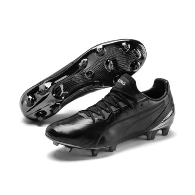 KING Platinum FG/AG voetbalschoenen voor Heren, Wit/Zwart | PUMA