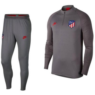 Nike Atletico Madrid Dry Strike Drill Trainingspak Champions League 2019-2020 Grijs