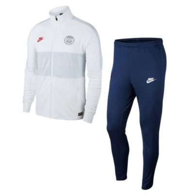 Nike Paris Saint Germain Dry Strike Trainingspak 2019-2020 Wit Donkerblauw
