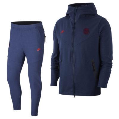Nike Paris Saint Germain Tech Fleece Pack Trainingspak 2019-2020 Blauw