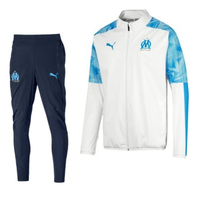 PUMA Olympique Marseille Trainingspak 2019-2020 Wit Blauw