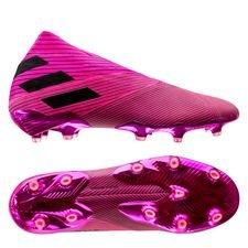 adidas Nemeziz 19+ FG/AG Hard Wired - Roze/Zwart