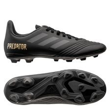 adidas Predator 19.4 FG/AG Dark Script - Sort/Goud Kinderen