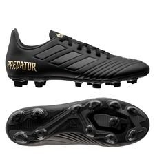 adidas Predator 19.4 FG/AG Dark Script - Zwart/Goud