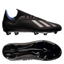 adidas X 18.3 FG/AG Archetic - Zwart/Blauw Kinderen