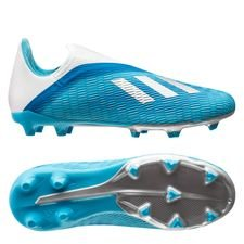 adidas X 19.3 FG/AG Laceless Hard Wired - Turquoise/Zilver Kinderen
