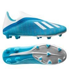 adidas X 19.3 FG/AG Laceless Hard Wired - Turquoise/Zwart