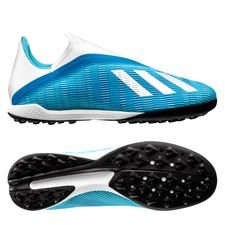 adidas X 19.3 TF Laceless Hard Wired - Turquoise/Zilver
