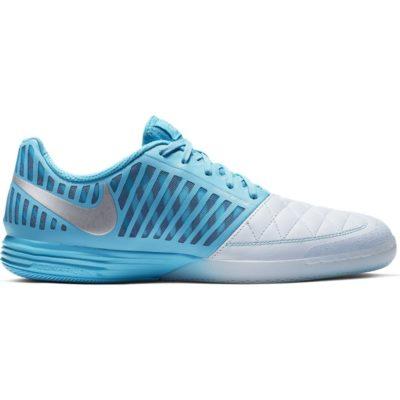 Nike LUNARGATO II Zaalvoetbalschoenen Blauw Wit Zilver