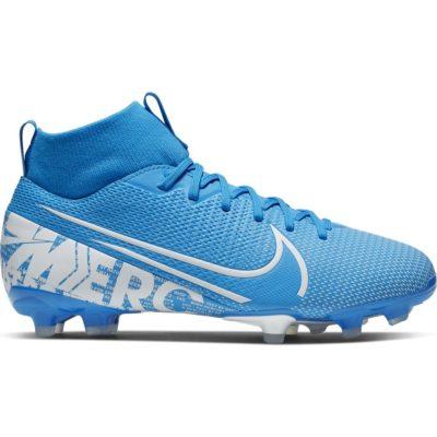 Nike Mercurial Superfly 7 ACADEMY Gras / Kunstgras Voetbalschoenen (MG) Kids Blauw Wit Blauw