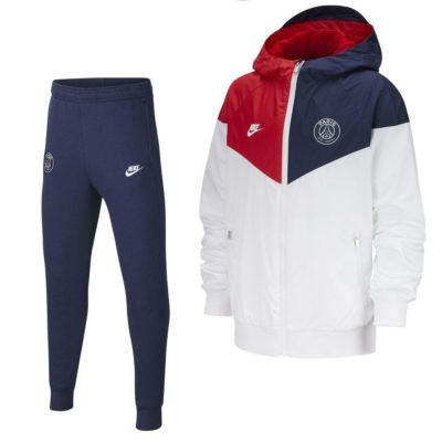 Nike Paris Saint Germain Windrunner GFA Trainingspak Kids Wit Blauw Rood