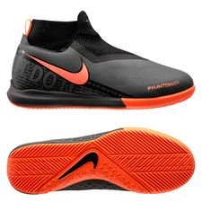 Nike Phantom Vision Academy DF IC Fire - Grijs/Oranje/Zwart Kinderen