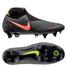 Nike Phantom Vision Elite DF SG-PRO Anti-Clog Fire - Grijs/Oranje/Zwart