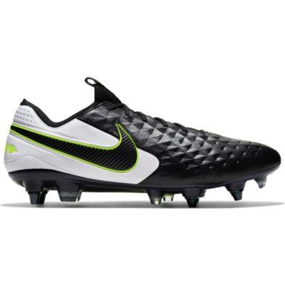 Nike Tiempo Legend 8 ELITE Ijzeren Nop Voetbalschoenen (SG) Anti-Clog Zwart Wit