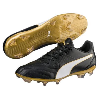 PUMA Capitano II Gras Voetbalschoenen (FG) Puma Black Puma White Gold