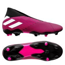 adidas Nemeziz 19.3 FG/AG Laceless Hard Wired - Roze/Wit/Zwart