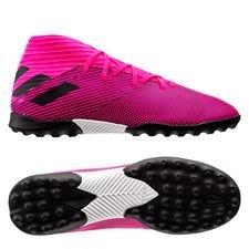 adidas Nemeziz 19.3 TF Hard Wired - Roze/Zwart Kinderen