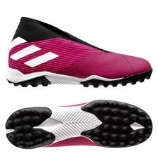 adidas Nemeziz Tango 19.3 TF Laceless Hard Wired - Roze/Wit/Zwart