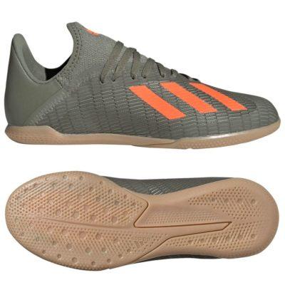 adidas X 19.3 Zaalvoetbalschoenen Kids Groen Oranje