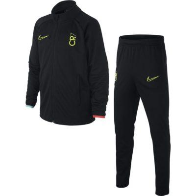 Nike CR7 Dry Trainingspak Kids Zwart Geel