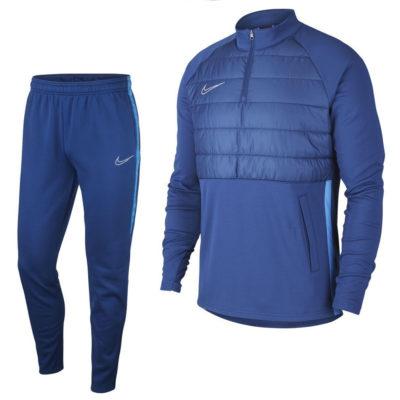 Nike Dry Academy Trainingspak Winter Warrior Donkerblauw Zilver