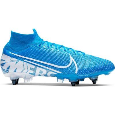 Nike Mercurial Superfly 7 ELITE Ijzeren Nop Voetbalschoenen (SG-Pro) Anti-Clog Blauw Wit Blauw