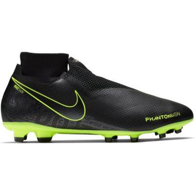 Nike PHANTOM VSN PRO DF Gras Voetbalschoenen (FG) Zwart Zwart Volt
