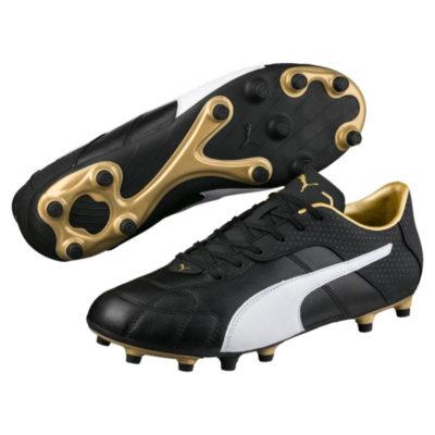PUMA Esito Classic Gras Voetbalschoenen (FG) PUMA Black Puma White Gold