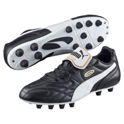 Puma King Top di Gras Voetbalschoenen (FG) Black/White
