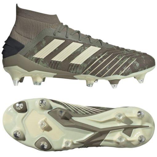 adidas PREDATOR 19.1 IJzeren nop Voetbalschoenen (SG) Groen Beige Geel