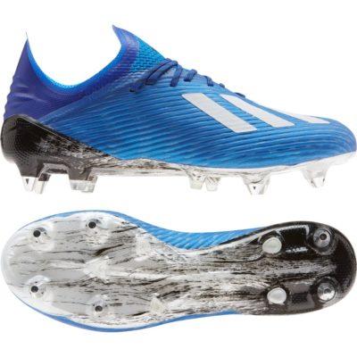 adidas X 19.1 Ijzeren Nop Voetbalschoenen (SG) Blauw Wit Zwart