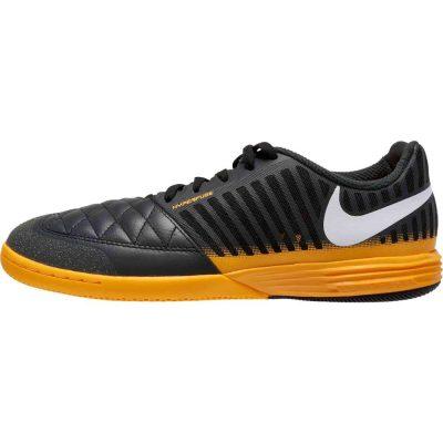 Nike LUNARGATO II Zaalvoetbalschoenen (IC) Donkergrijs Oranje Wit