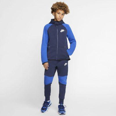 Nike NSW Tech Fleece Trainingspak Kids Donkerblauw Blauw
