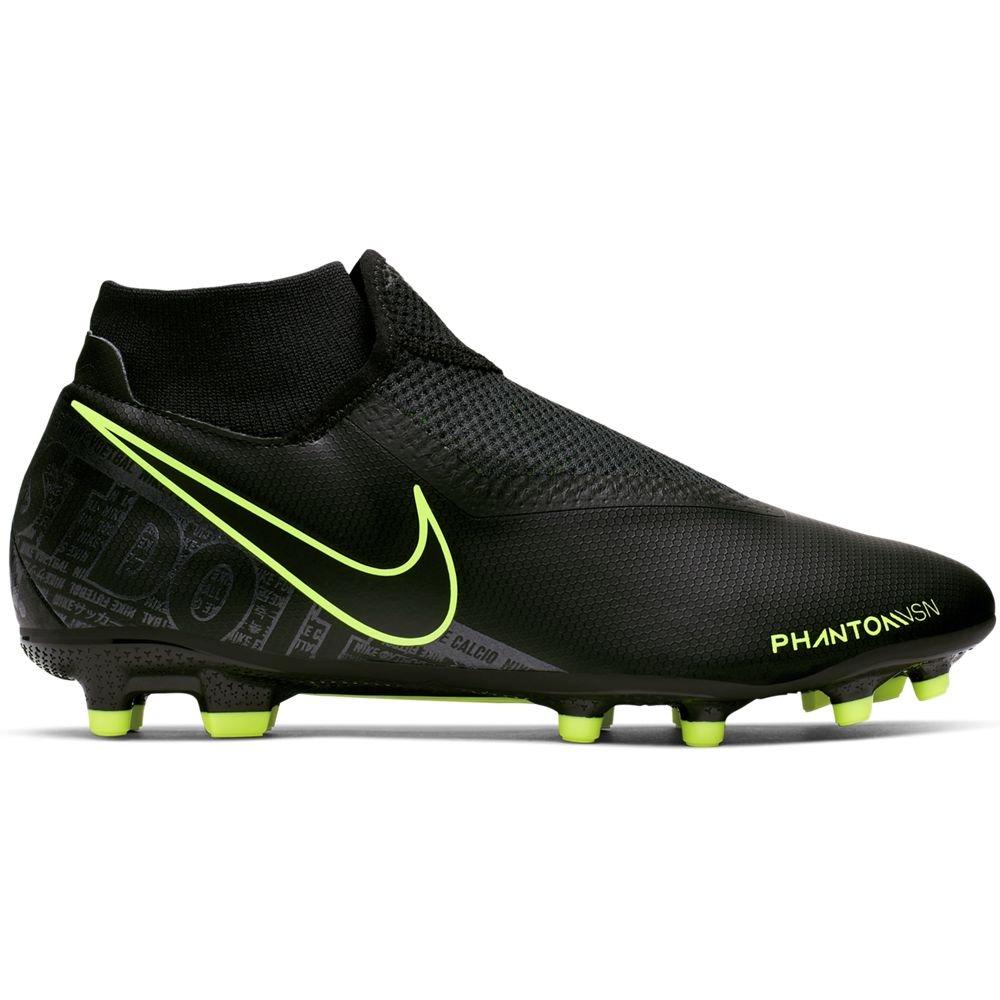 Nike PHANTOM VSN ACADEMY DF Gras Kunstgras Voetbalschoenen (MG) Zwart Zwart Volt