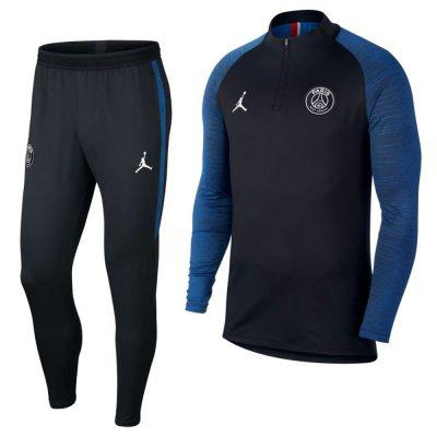 Nike Paris Saint Germain X Jordan 4th Drill Trainingspak 2020 Zwart Blauw