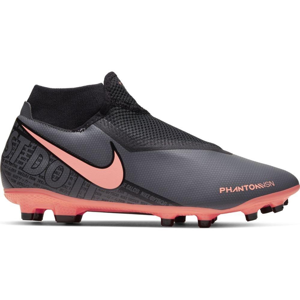 Nike Phantom Vision ACADEMY DF Gras Kunstgras Voetbalschoenen (MG) Donkergrijs Oranje