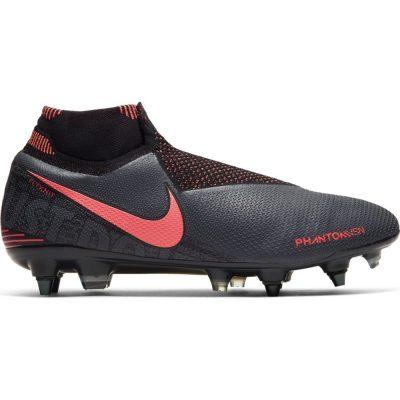 Nike Phantom Vision ELITE DF Ijzeren Nop Voetbalschoenen (SG-PRO) Anti-Clog Donkergrijs Oranje