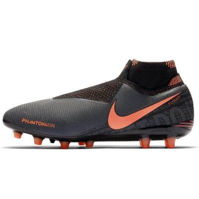 Nike Phantom Vision ELITE DF Kunstgras Voetbalschoenen (AG-PRO) Donkergrijs Oranje