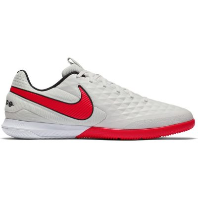Nike REACT Tiempo Legend 8 Pro Zaalvoetbalschoenen Platinum Rood