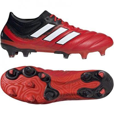 adidas COPA 20.1 Gras Voetbalschoenen (FG) Rood Wit Zwart