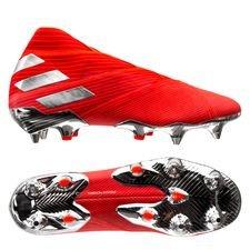 adidas Nemeziz 19+ SG 302 Redirect - Rood/Zilver/Rood