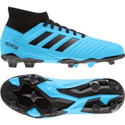 adidas PREDATOR 19.3 Gras Voetbalschoenen (FG) Kids Blauw Zwart